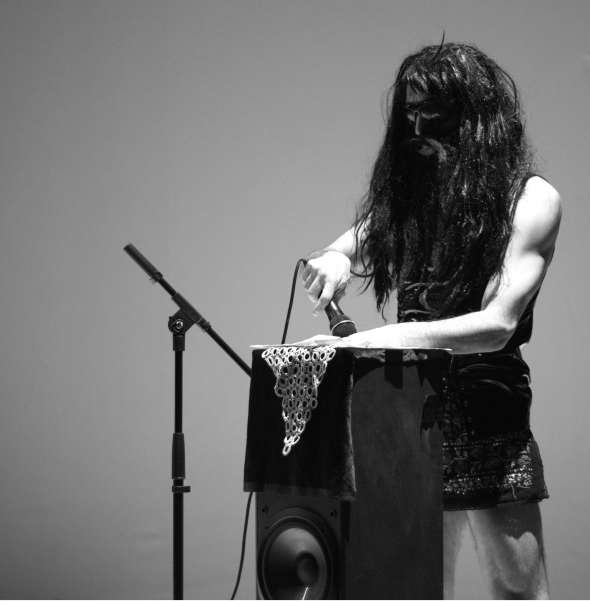 Farid Fairuz 'Realia (Bucharest/Beirut)' (2014), performance, photo by Alina Usurelu, courtesy of HAU