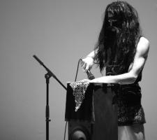 Farid Fairuz 'Realia (Bucharest/Beirut)' (2014), performance, photo by Alina Usurelu, courtesy of HAU