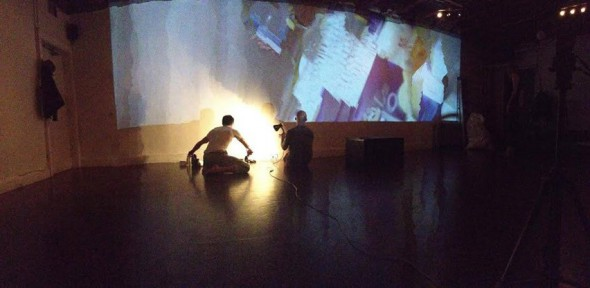 """elephants collective """"A Wake For Lost Time"""" (2014), January performance, photo courtesy of the artists"""