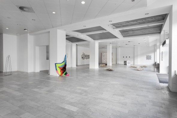 One Step Ahead Moving Backwards (2014), installation view, photo courtesy of LEAP