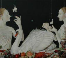 "Anita Arbidane ""Morning"" (2014), oil on canvas, 60 x 80 cm, photo courtesy of Art Gallery and the India Art Fair"