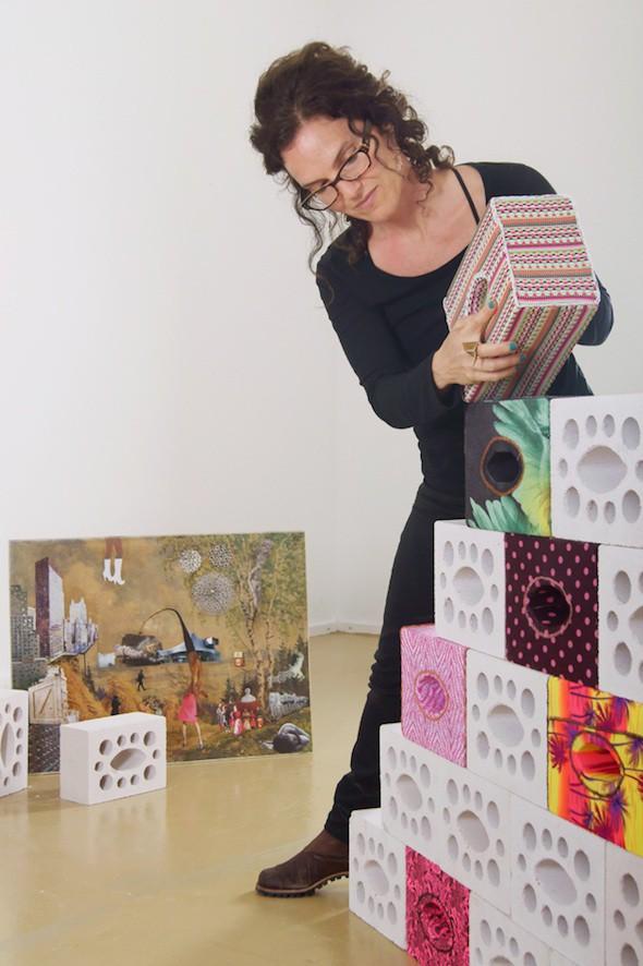 Raquel Paiewonsky in her studio at Künstlerhaus Bethanien; Courtesy of the artist