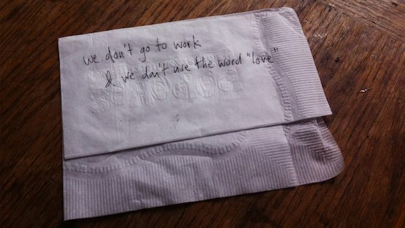 """Hannah Black """"We don't go to work & we don't use the word love""""; courtesy of the artist"""