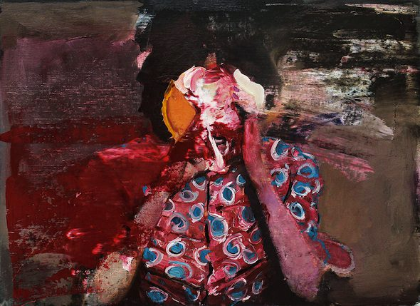Adrian Ghenie, Pie Fight Study 18/2/12, 2012, Oil on canvas, 55.5 x 76 cm, The Sander Collection, Darmstadt