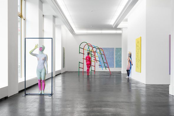 Donna Huanca - Performance View, Peres Projects (2015), Muscle Memory; Courtesy of Peres Projects