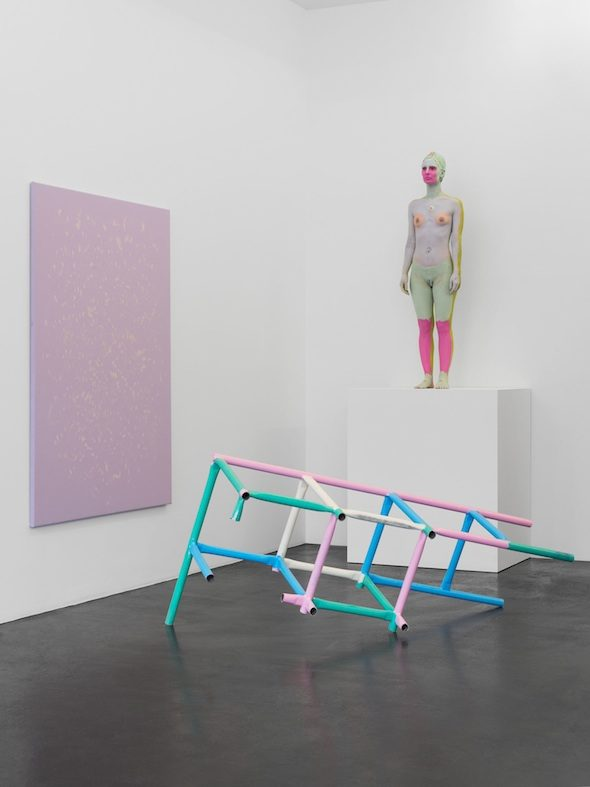 Donna Huanca - Performance View, Muscle Memory at Peres Projects, 2015; Courtesy of Peres Projects