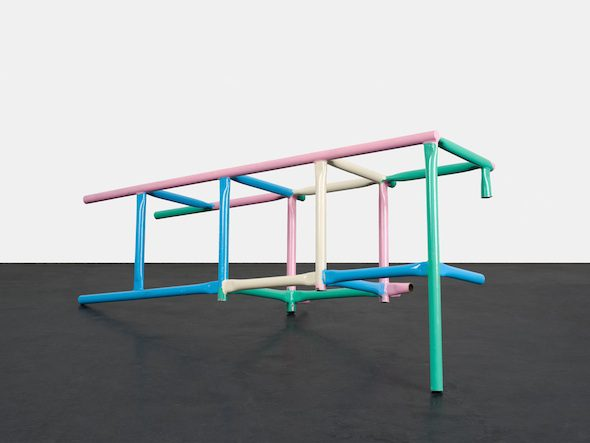 Playground Fragment (2015); Lacquered Steell; Courtesy of Peres Projects