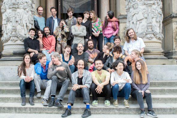 Tino Sehgal and performers in front of the Martin-Gropius-Bau Berlin, June 2015; © Mathias Völzke