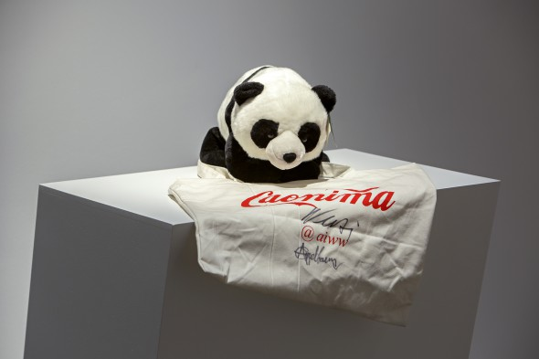 "Jacob Appelbaum and Ai Weiwei - ""P2P (Panda-to-Panda)"" (2015); commissioned by Rhizome and the New Museum in New York, photo courtesy of NOME Gallery"