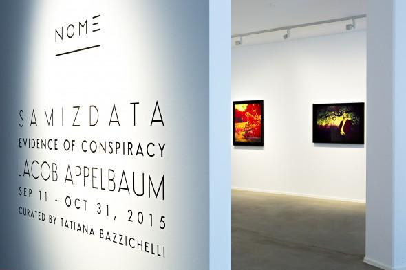 "Jacob Appelbaum - ""Samizdata"" (2015), installation view; photo courtesy of NOME Gallery"