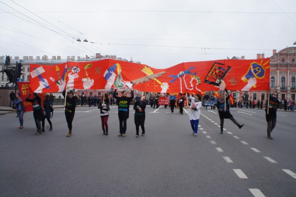 Chto Delat? - 1st of May Parade; photo courtesy of the artists