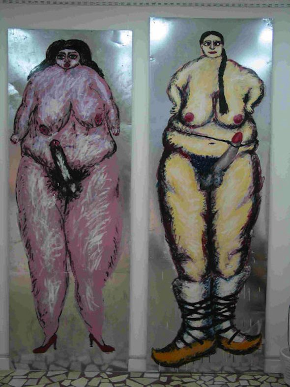 berlinartlink-Dumitru Gorzo Chicks with dicks 2003