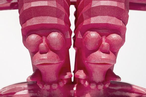 "Matthew Plummer-Fernandez - ""Merge Simpson"" (2015), SLS polyamide, resin, paint, 41 x 22 x 55 cm; photo by Bresadola+Freese/drama-berlin.de, courtesy of NOME Gallery"