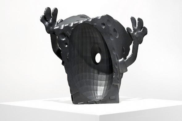 "Matthew Plummer-Fernandez - ""SpongeBool"" (2015), SLS polyamide, resin, paint, 47 x 13 x 40 cm; photo by Bresadola+Freese/drama-berlin.de, courtesy of NOME Gallery"