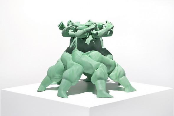 "Matthew Plummer-Fernandez - ""Gogogogogoku"" (2015), SLS polyamide, resin, paint, 47 x 48 x 33 cm; photo by Bresadola+Freese/drama-berlin.de, courtesy of NOME Gallery"
