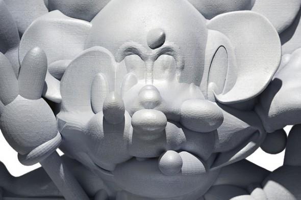 "Matthew Plummer-Fernandez - ""Every Mickey"" (2015), SLS polyamide, resin, paint, 50 x 24 x 50 cm; photo by Bresadola+Freese/drama-berlin.de, courtesy of NOME Gallery"