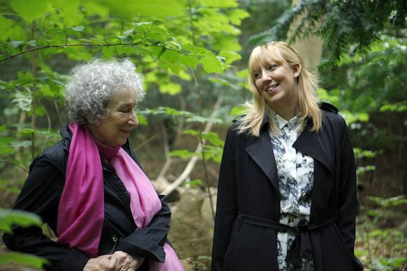 Margaret Atwood and Katie Paterson // Photo © Giorgia Polizzi, Future Library is commissioned and produced by Bjørvika Utvikling, managed by the Future Library Trust. Supported by the City of Oslo, Agency for Cultural Affairs and Agency for Urban Environment.