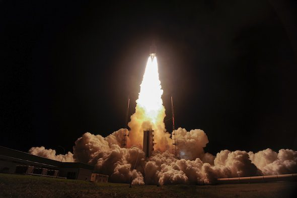 Meteorite launched into space aboard the ATV, 2014 // Photo © ESA, 2014