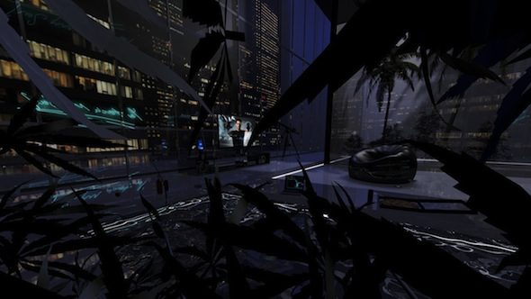 BLUNTxSKENSVED: Dude Pad, 2015, still from 360 degree virtual reality environment // Courtesy of the artists