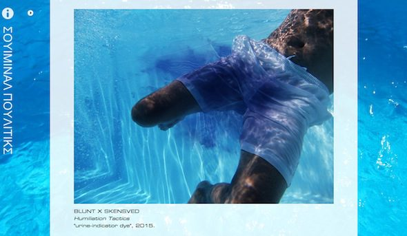 BLUNTxSKENSVED: Swimminal Poolitics, online exhibition screenshot from swimminalpoolitics.eu // Courtesy of the artists