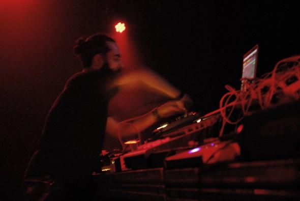 Inner8 alias Daniele Antezza, Holotone' showcase at Kantine am Berghain // photo by Nadine Talakovics