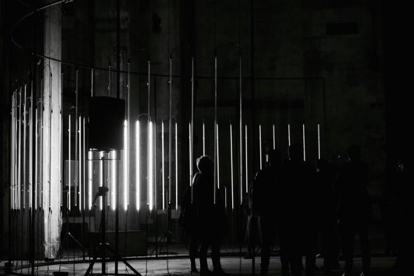 White Circle's Installation, Raster-Noton's 20th anniversary // Photo by Marc Girardot at Halle am Berghain