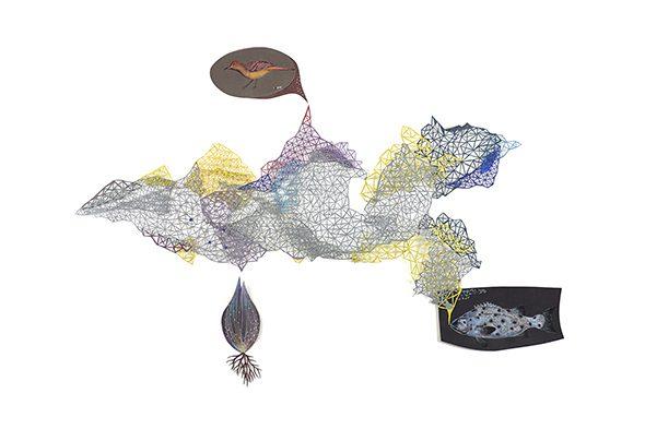 Anna Charaktinou, Self-Magnetic Grid, 2016, 60 x 96 cm