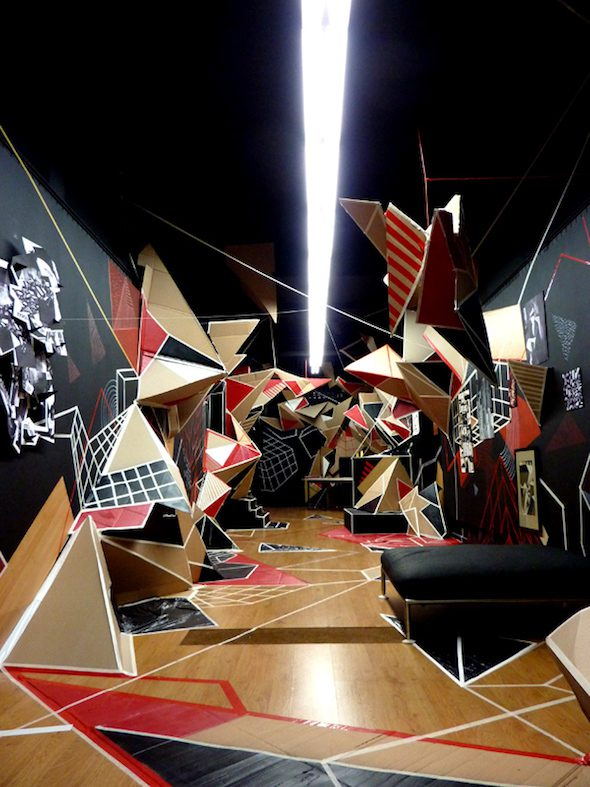 Clemens Behr: Rojo Barcelona, Installation, 2010 // Courtesy of the Artist