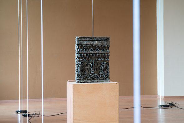 Spiros Hadjidjanos: Installation at Skulptur Bredelar // Photo by Sander van Wettum