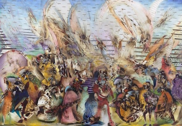 Ali Banisadr, 'Foreign Lands', oil on canvas, 2015 // Courtesy of Galerie Thaddaeus Ropac, Photo: Charles Duprat