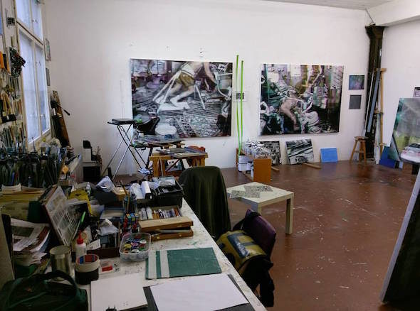 Artist Studio Space at Atelierhaus Mengerzeile // courtesy of Enda O'Donoghue