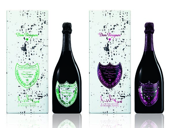 Packaging designed by Michael Riedel for Dom Pérignon