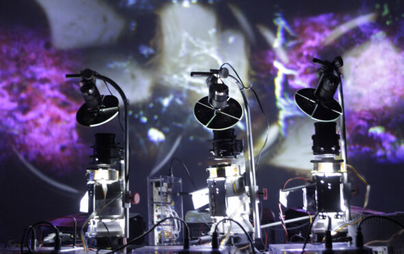 Wolfgang Spahn: 'Entropie', Live performance with sound and visual installation, 2013 // Courtesy of the Artist and Collegium Hungaricum Berlin