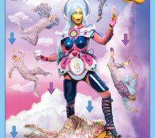 Rachel Maclean: 'We Want Data' , Dye sublimation fabric print series , 210×300 cm , 2016 // Commisioned by Artspace and HOME // Courtesy of the Artist and HOME  //