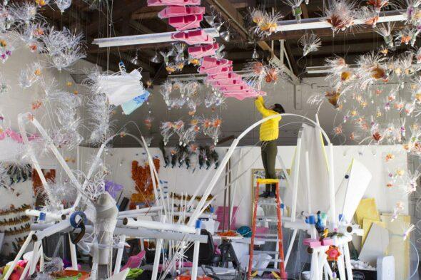 Ma Li: 'Ladder' (Work in progress) // courtesy of Migrant Birds