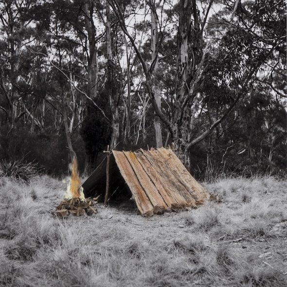 James Tylor, 'Un-Resettling (A-Frame Hut)', hand coloured digital print, 2013 // courtesy of the artist
