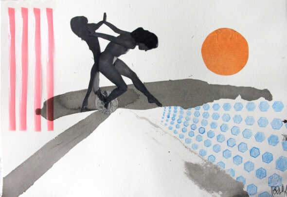 Poul Weile: 'Wendy (playing with her shadow)', collage, 2013 // Courtest of the Artist and Galleri Heike Arndt DK