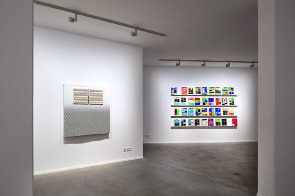 Navine G. Khan-Dossos: 'Command: Print' installation view at NOME, 2016 // Photo by Bresadola+Freese / drama-berlin.de