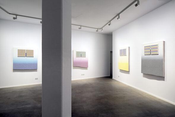Navine G. Khan-Dossos: 'Printer Paintings', installation view at NOME, 2016 // Photo by Bresadola+Freese / drama-berlin.de