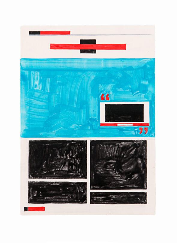 Navine G. Khan-Dossos: 'If I Were The US President Today (John Cantlie) I', 25cm x 35cm x 1.5cm, Gouache on panel, 2016 // Photo by Bresadola+Freese / drama-berlin.de