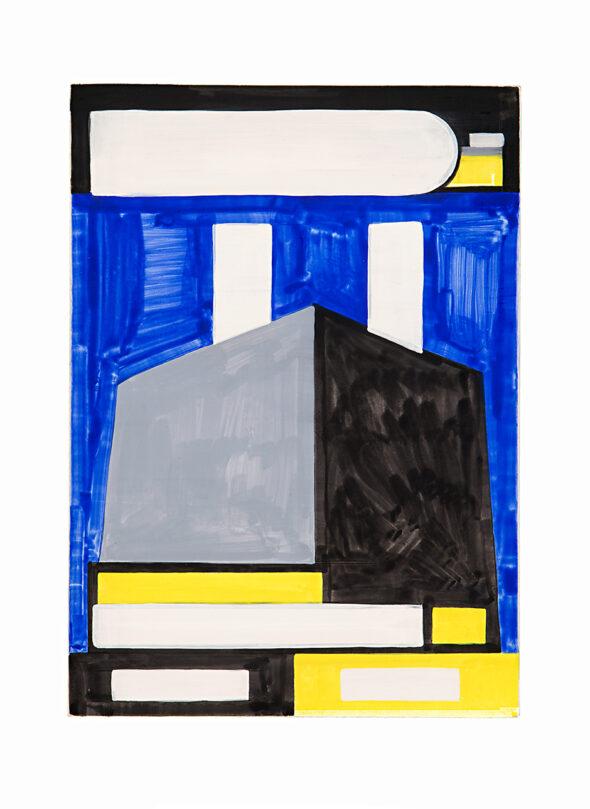 Navine G. Khan-Dossos: 'Expanding and Remaining', 25cm x 35cm x 1.5cm, Gouache on panel, 2016 // Photo by Bresadola+Freese / drama-berlin.de