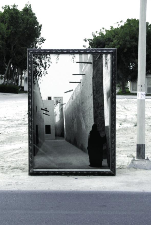 Reem Al Ghaith: 'Held Back' (Frame 2), Digital photographic print on canvas, 2006 // Copyright Reem Al Ghaith