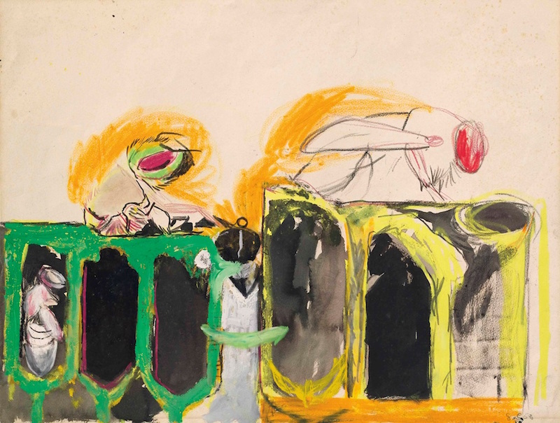 Graham Sutherland: 'Study for Bees', 1963, Pencil, pastel and gouache // Courtesy of Christopher Kingzett Fine Art