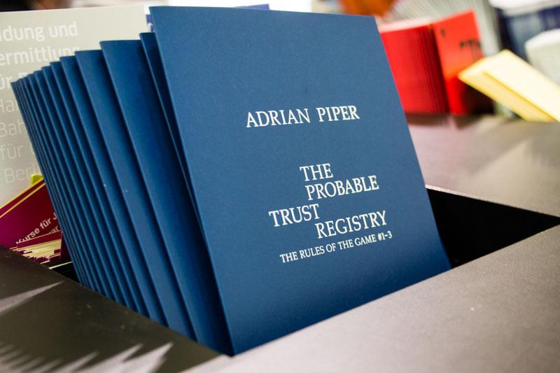 Berlin Art Link exhibition of Adrian Piper