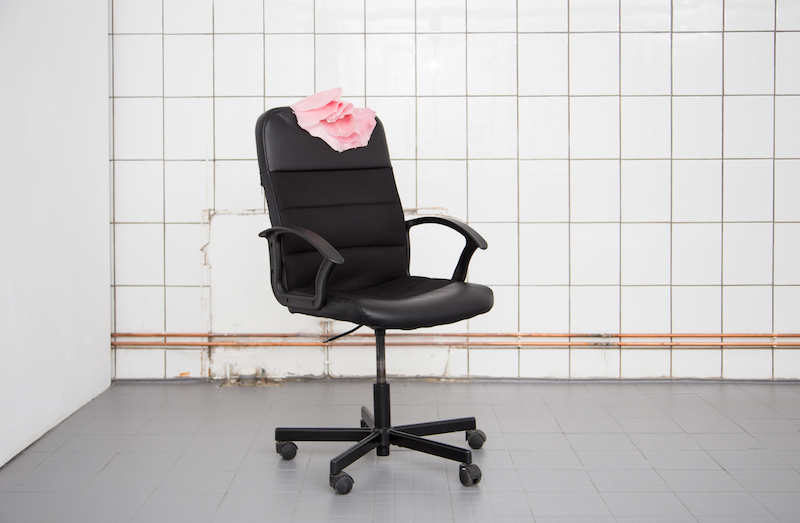 Michele Gabriele, 'BIWI PRNCSS (When you were here)', 2016, pigmented silicone and office chair, 106cm x 59.5cm x 58cm. Courtesy of the gallery