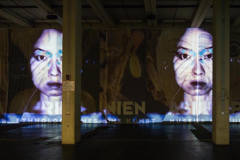 Theo Eshetu: 'Atlas Fractured', 2017,  installation view at Neue Neue Galerie