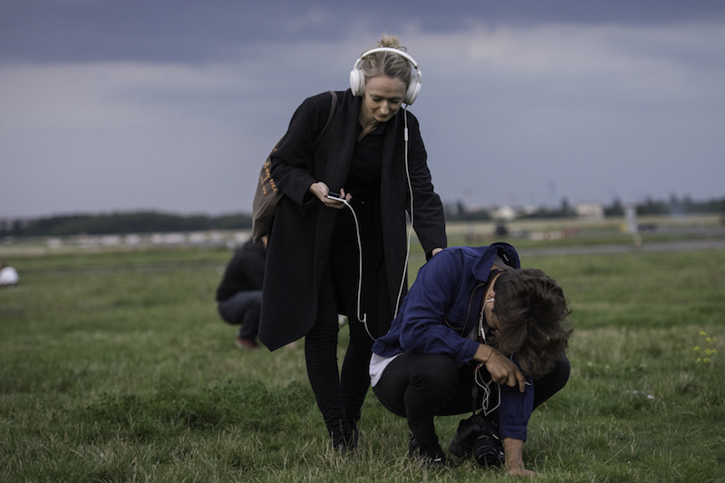 Berlin Art Link, Lundahl and Seitl, 'Unknown Cloud on Its Way to Berlin,' performance documentation at Tempelfoher Feld, Berlin // Photo by Juli Büki