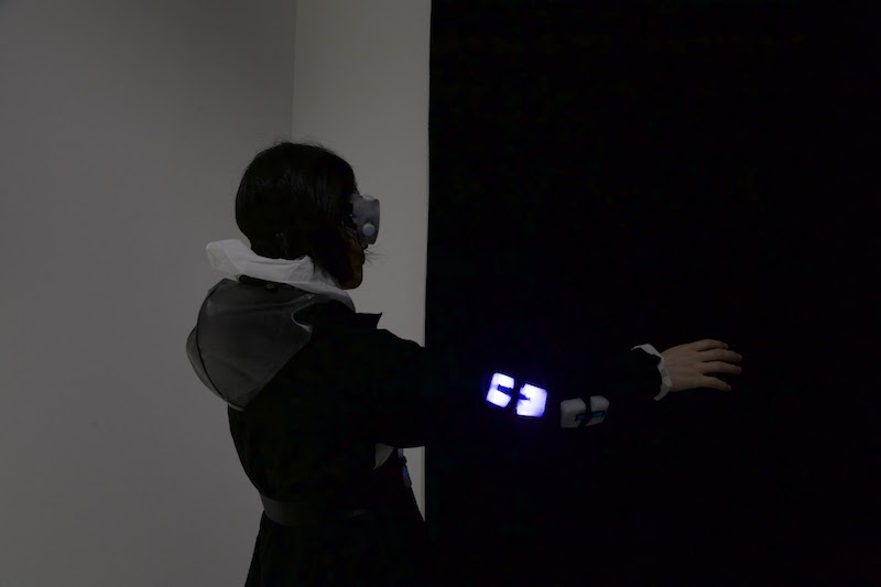 Berlin Art Link, Chris Salter and TeZ, 'Haptic Field,' Installation view // Photo by Aina Wang