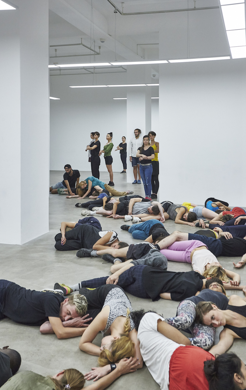 Alexandra Pirici, 'Aggregate,' exhibition view Neuer Berliner Kunstverein, 2017 © Neuer Berliner Kunstverein // Joseph Devitt Tremblay