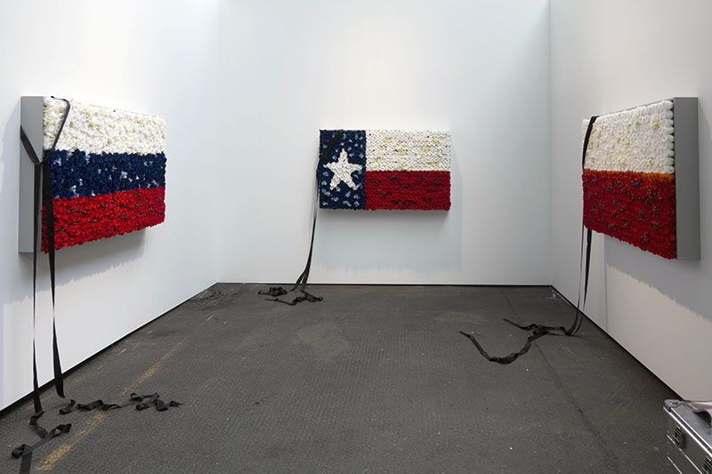 Bunny Rogers, 'Flags' series, installation view // Photo by Anna Russ